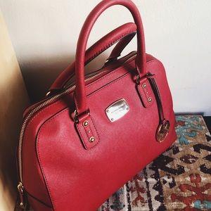 Michael Kors Saffiano Satchel Bag